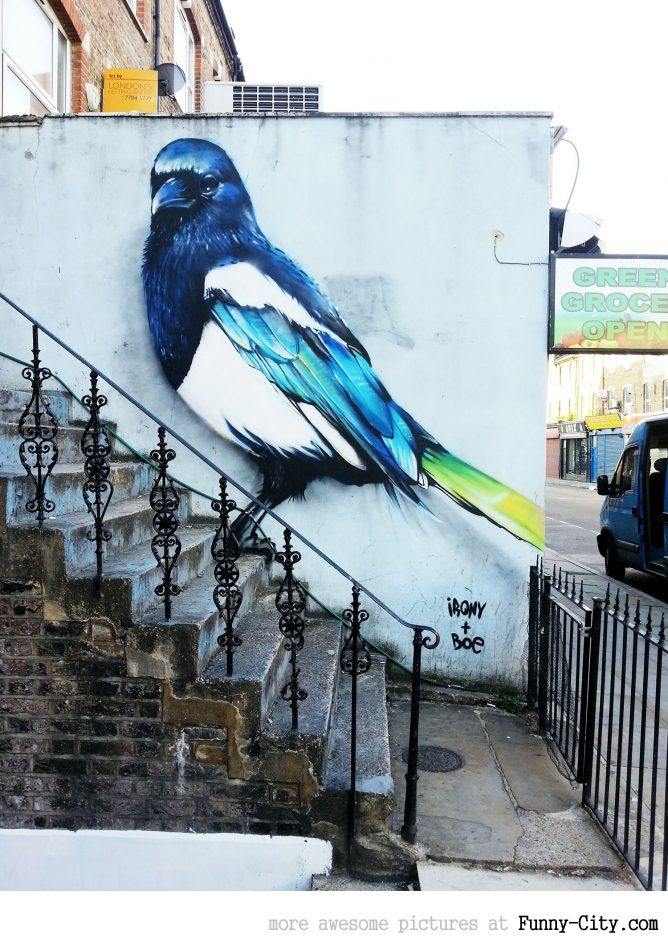 Bird - Street art in London
